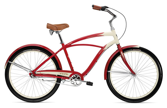 Велосипед круизер Trek Cruiseliner Ivory/Empire Red